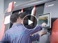 工厂激光机切割机操作和整体形象展示